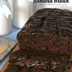 Triple Chocolate Banana Bread @keyingredient #chocolate #bread