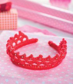 Crochet princess tiara Crochet Pattern