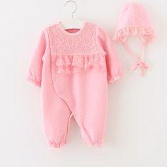 Baby Girl Newborn Pink Lace Princess Romper, girls dresses, toddler girl clothes, kids dresses, children's clothing