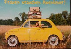 "Postcrossing postcard #2 , Germany.  ""Women need adventures"""