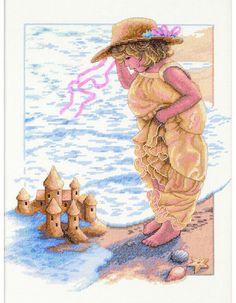 Sandcastle Dreams Cross Stitch Kit £24.00 | Past Impressions | Dimensions
