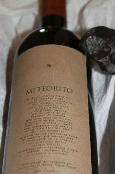 Hate Earthly Wine? Try one made from meteorites