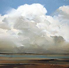 """2011, Lake View cloud study by Joseph Alleman Oil ~ 11"""" x 11"""""""