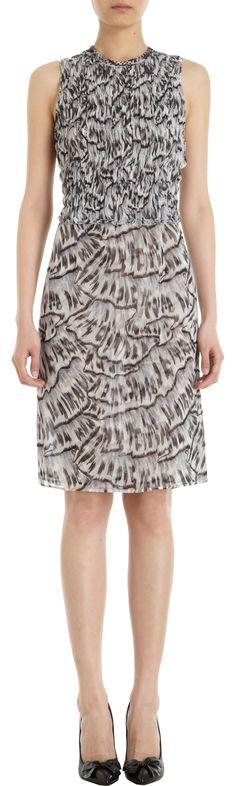 Bottega Veneta Fan Print Dress