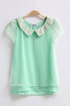 Mint chiffon shirt. perfection