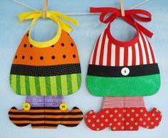 Witch and Elf Baby Bib Sewing Pattern  PDF par preciouspatterns https://www.etsy.com/fr/listing/61649994/witch-and-elf-baby-bib-sewing-pattern?ref=listing-shop-header-1