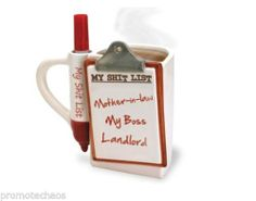 "MY SH*T LIST FUNNY DESK MUG Coffee Tea White Red Ceramic Boss Gag Gift Cup Silly  ★ 15% OR MORE OFF MOST ITEMS! Most have FREE US SHIPPING & a ""Make Offer"" option! Over 500+ unique gifts, rare vinyl records including part of Pro Skateboarder BILL DANFORTH's personal punk vinyl collection, cool/pretty purses includes LUX DE VILLE, Sunglasses Made by Skaters using Recycled Skateboard Decks, shoes, boots, creepers, clothes, collectibles & more…"