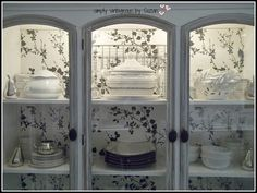 Restoring a Buffet/hutch With Wallpaper