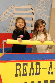 Painted background roller coaster photo booth!