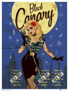 Black Canary: Here's an extremely cool set of 1940s-style pin-up art featuring several iconic heroines form the DC Comics universe. They were created by Ant Lucia, and I think they turned out beautifully.