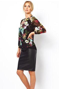 7bc17de4bb ... del producto Nombre del producto es 2013 nueva moda en Europa las  mujeres elegantes flores de época camisa de gasa estampada camisa de manga  larga del ...