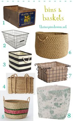 Bins, baskets and crates, oh my! #organization #baskets