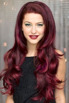 cherry wine hair color - Google Search