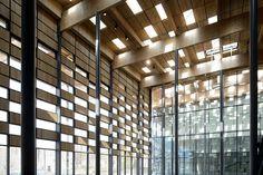 Kengo Kuma & Associates / Archidev, Cité des arts - Frac Franche-Comté, Besançon, 2012. Photo : Nicolas Waltefaugle.