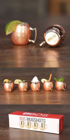 Bring Mini Moscow Mule Mugshots and be the topic of conversation at every holiday party. Only 39 bucks.