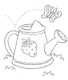 Coloring pages,digi stamps. Hand Embroidery Designs, Vintage Embroidery, Cross Stitch Embroidery, Machine Embroidery, Applique Templates, Applique Patterns, Motifs D'appliques, Strawberry Shortcake Coloring Pages, Spring Coloring Pages