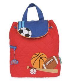 9ed5c5e76 Stephen Joseph Quilted Backpack - Sports. Preschool BackpackToddler Quilt Toddler BagToddler BackpackKids ...