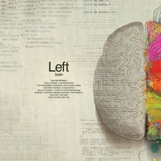 The analytical left. Playing With Numbers, Brain Facts, Right Brain, Getting To Know You, You And I, Inspired, Art, Art Background, You And Me