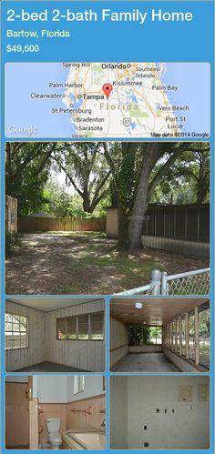 2-bed 2-bath Family Home in Bartow, Florida ►$49,500 #PropertyForSaleFlorida http://florida-magic.com/properties/38860-family-home-for-sale-in-bartow-florida-with-2-bedroom-2-bathroom