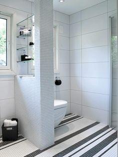 Toalett på skillevegg