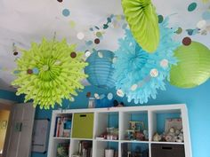 Cute!  Love the ceiling - more inspiration for Baby Bee's room.
