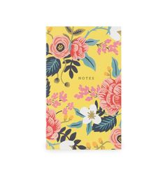 """These Pocketable Notepads from Rifle Paper Co. feature sixty blank tear-away sheets and a small pocket great for tickets or receipts. - 3 x 5"""" - Natural White Cover Paper - Full-color - 60 Page Count"""
