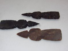 3 Stone tomahawk heads.....A3A71.. Hatchet .... Ax..... primitive stone tool