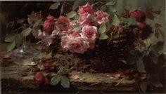 Frans Mortelmans, bouquet of roses, oil