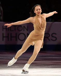 DETROIT, MI - OCTOBER 20: Mao Asada of Japan performs during Smucker's Skating Spectacular on day three at Skate America at Joe Louis Arena ...