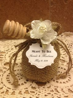 20 qty meant to bee honey wedding shower favors with dipper u0026