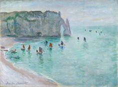 Claude Monet, Étretat. La porte d'Aval, bateaux de pêche sortant du port, Vers…