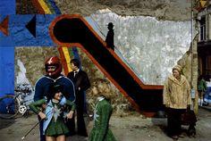 Harry Gruyaert, Belgium. Antwerp. 1992. Carnival.