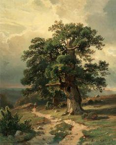 Landscape Trees by Ivan Shishkin 05 B ,  canvas print , art print , giclee print , oil painting