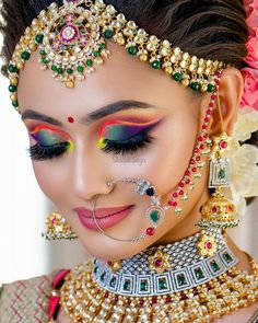 Perfect finishing to a bridal look is given by stunning nose rings! Book the best makeup artist now with BookEventZ to get the perfect bridal look on THE DAY! Bridal Makeup Images, Bengali Bridal Makeup, Indian Wedding Makeup, Best Bridal Makeup, Bridal Makeup Looks, Bride Makeup, Indian Eye Makeup, Dulhan Makeup, Beautiful Bridal Makeup