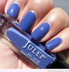 Julep nail color on blue