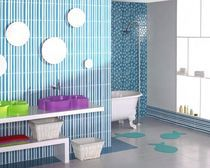carrelage mural en céramique de salle de bain : motif à rayures AGATHA PAMESA CERAMICA