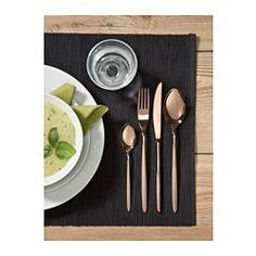 IKEA - FINRIV, Bestek 4-delig, Vaatwasserbestendig.Gemaakt van roestvrij staal, stevig en eenvoudig schoon te maken.