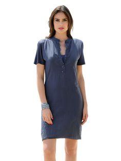 Kleid von ALBA MODA aus modischem Materialmix