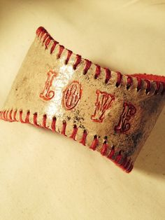 Baseball Love Cuff by S2Celebrate on Etsy, $32.00
