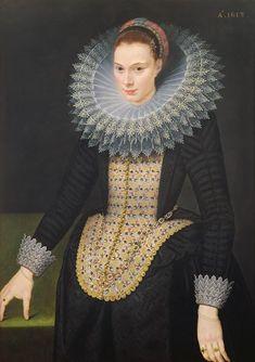 Cornelis van der Voort - (Dutch painter 1576 – buried on 2 November 1624) Portrait of a Lady