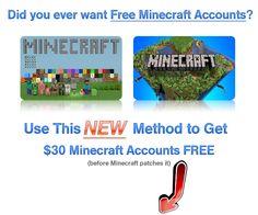 Free Minecraft Accounts http://minecraftserverfree.com