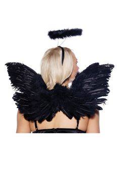 Awesome Black Deluxe Feather Angel Accessory Kit (Adult) Naughty Or Nice, Every  Angel Needs Worthy Wings! Whether Youu0027re A Heavenly Angel Or A Fallen Angel,  ...