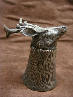 Stag inkwell 19th century
