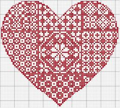 This Pin was discovered by Mon Embroidery Hearts, Blackwork Embroidery, Cross Stitch Embroidery, Embroidery Patterns, Wedding Cross Stitch Patterns, Counted Cross Stitch Patterns, Cross Stitch Designs, Stitch Witchery, Cross Stitch Heart