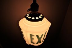 Antique Exit Light Fixture by AfterLifeAntiques on Etsy