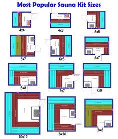 Most Popular Sauna Kit Sizes, Layout ideas. Sauna Kits, Sauna Ideas, Sauna Steam Room, Sauna Room, Sauna Wood Stove, Basement Sauna, Diy Sauna, Sauna Seca, Indoor Sauna