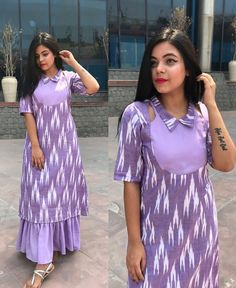 Latest trends in Beauty, Fashion, Indian outfit ideas, Wedding style on your mind? We bring to you hand picked collections for inspiration Simple Kurti Designs, Kurta Designs Women, Latest Kurti Designs, Outfit Essentials, Dress Neck Designs, Designs For Dresses, Indian Designer Outfits, Designer Dresses, Kurti Patterns