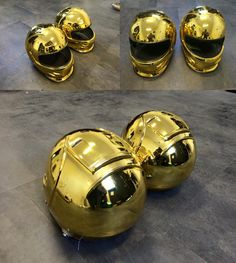 Gold Chrome Helmets http://www.chromefactorylv.com/services/