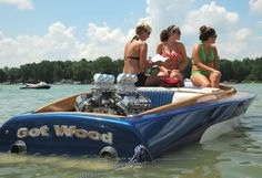 Hello Ladies. Fast Boats, Cool Boats, Wooden Speed Boats, Wooden Boats, Flat Bottom Boats, Boat Girl, Custom Muscle Cars, Ski Boats, Vintage Boats