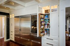 p/image-result-for-built-in-pantry-cabinet-built-cabinet-image-kitchen-pantry-image-result-for - The world's most private search engine Kitchen Pantry Cabinet Ikea, Stainless Steel Kitchen Cabinets, Kitchen Pantry Design, Pantry Cupboard, Kitchen Storage, Kitchen Ideas, Pantry Storage, Pantry Organization, Food Storage